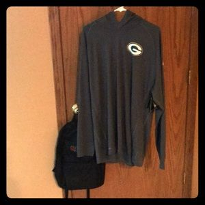 Men's thin Packers long sleeve with hood